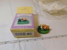 1995 Hallmark Easter Merry Miniature Easter Egg Hunt Rabbit flowers Nos Spring