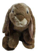 "Bunny Rabbit Animal Alley Plush Beanbag Brown Heavy Life Like 14"" Stuffed Toy"