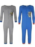Boys GREY or BLUE Soft Touch Cotton SKYLANDERS All In One Pyjama  Ages 6 8 10 12