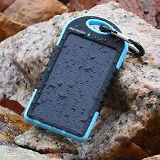 Power Bank Batterie Chargeur Solaire Portable Étanche 5000 mAh 4 Couleurs - Neuf