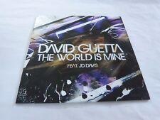 DAVID GUETTA & JD DAVIS - The world is mine - CD 1 TITRE !!! PROMO !!!