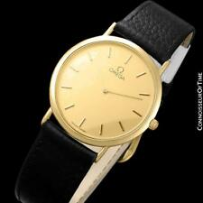 Plated Watch - Mint with Warranty Omega De Ville Mens Midsize 18K Gold