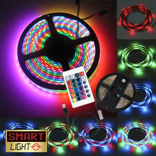 5V 5050 USB LED Strip Lights TV Back Light RGB Colour Changing with Remote 1M UK