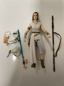 Bandai SH Figuarts Star Wars Rise Of Skywalker Rey And D-O Figure US SELLER Open