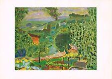 1940s Vintage Pierre Bonnard Paysage Landscape Offset Litho Art Print