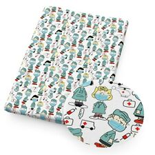 SNOOPY & WOODSTOCK LUCY DR NURSE 100% Cotton Fabric Material 19