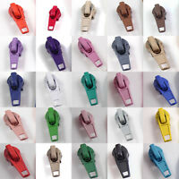 EXTRA ZIP SLIDERS FOR No.5 CONTINUOUS ZIPS *26 COLOURS* ZIPPER FASTENINGS ONLY!