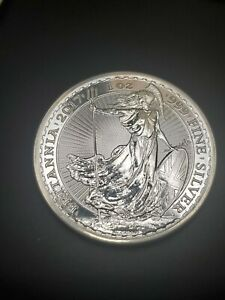 2017 UK Britannia £2 1 oz .999 Fine Silver Coin Royal British Mint