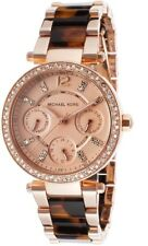 Michael Kors Mini Parker Rose Gold Tortoise Womens Glitz Watch MK5841