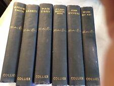 Sinclair Lewis 6 book set HC Antique 1920 Novels - Main Street, Babbitt, Arrow