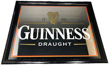 Guinness Draught 1759 Framed Bar Mirror Picture Diageo 18in X 22in