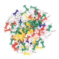 100pzs Chinchetas de colores Tachuelas de metal Chinchetas de dibujo de map V2X6