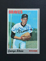 George Stone Braves Signed 1970 Topps Baseball card #122 Auto Autograph
