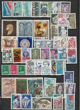 Année complète 1976 en neufs luxes + PA 49 MNH N°1863/1913