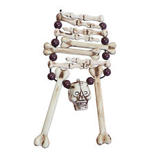 Squelette os collier halloween skull pirate accessoire robe fantaisie