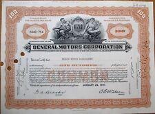GM / General Motors Corporation 1950s Stock Certificate