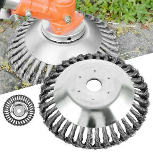 6/8 Inch Steel Wire Wheel Brush Grass Trimmer Head Weed Cleaning Garden Farm