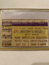 Concert Souvenir 2000 Six Flags Texas Ticket Stub Destiny'S Child Beyonce Rare