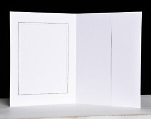15x Portraitmappe / Leporello / Bildermappe f. 13x18 mit Seitentasche in weiß