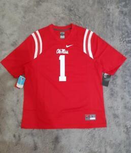 Men's Nike NCAA Ole Miss Rebels Replica Game Jersey No #1 Cardinal sz LARGE