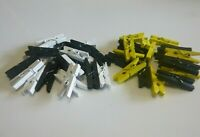 20 Mini Wood Clothes Pegs 25mm Footy Colours Richmond Tigers Collingwood Magpies