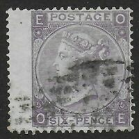 SG97.  6d.Lilac(With Hyphen) Plate 5. A Fresh FU Wing Margin Example.  Ref:07145