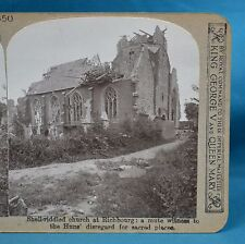 WW1 Stereoview Shell Riddled Church At Richbourg Realistic Travels