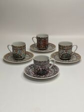 Antique R&S Prussia Demitasse Cups And Saucers, Set Of Four