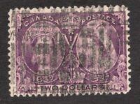 #62 - Canada - 1897 - Two Dollar Diamond Jubilee Stamp - Used  - F -  superfleas
