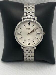 Fossil ES3433 Womens Stainless Steel Analog Silver Dial Quartz Wrist Watch LP172