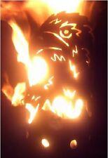 Adler Fackel - Set mit Stiel und Wachsrollen Gartenfackel Feuerschale Eisen