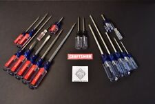 NEW CRAFTSMAN 18pc USA SCREWDRIVER SET Phillips Blade Standard Slotted Torx