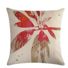 Leaf Cushion Cover Leaf Printed Popular Home Textiles Retro Style Flower Pattern