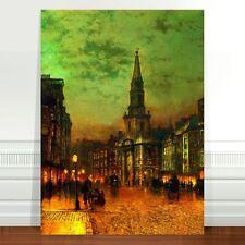 "John Atkinson Grimshaw Blackman Street London ~ FINE ART CANVAS PRINT 16x12"""