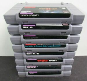 8 Nintendo SNES Game Lot Super Nintendo Collection VG