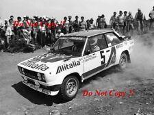 Walter Rohrl ALITALIA FIAT 131 ABARTH vincitore ACROPOLIS RALLY 1978 fotografia 3