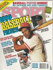 May 1990 Eric Davis Greg Olson Baseball Preview Sport Magazine
