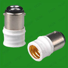 50x Small Bayonet SBC B15 To small Screw E14 SES Bulb Adaptor Converter Holder