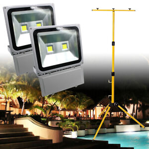 LED Flood Light Tripod Stand Work Site Floodlight Telescopic Tripod For Garden