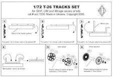 Ace Models 1/72 T-26 TANK TRACKS Photo Etch Set