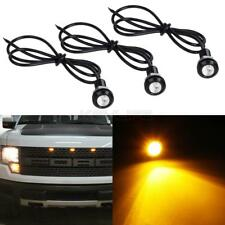 3x Amber LED Light For Ford 1995-2019 Raptor Style Grille Eagle Eye Lamp Kit 12V