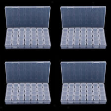 4x 28 Slot Plastic Jewelry Bead Organizer Storage Box Container Crafts Tool Case