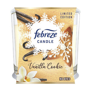 Febreze Vanilla Cookie Candle Limited Edition In Glass Jar - 100g