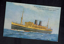 Mint Australia Ship Picture Postcard SS Chitral at Sea Passenger Liner