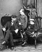 New 8x10 Photo: Abraham Lincoln Sons Tad & Willie with Cousin Lockwood Todd