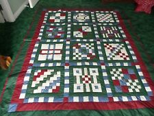 """Patch in Time Quilt Home made  by me  85"""" X 68""""  Blocks by Jo Ann Fabric & Craft"""