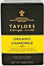 Taylors of Harragate Organic Chamomile Gentle & Soothing Caffeine Free Tea 30pk