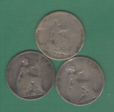 3 munten van Engeland van 1 penny brons ,1900 // 1899 // 1869 ,,zie foto's ,,Nr