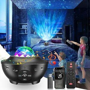 Galaxy LED Projector Light Star Sky Ocean Wave Bluetooth Speakers Night Light UK