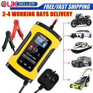 LCD Automatic Smart Intelligent Car Battery Charger Pulse Repair Starter 12V UK
